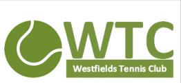 westfields logo white text