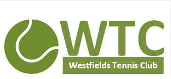 westfields logo white text